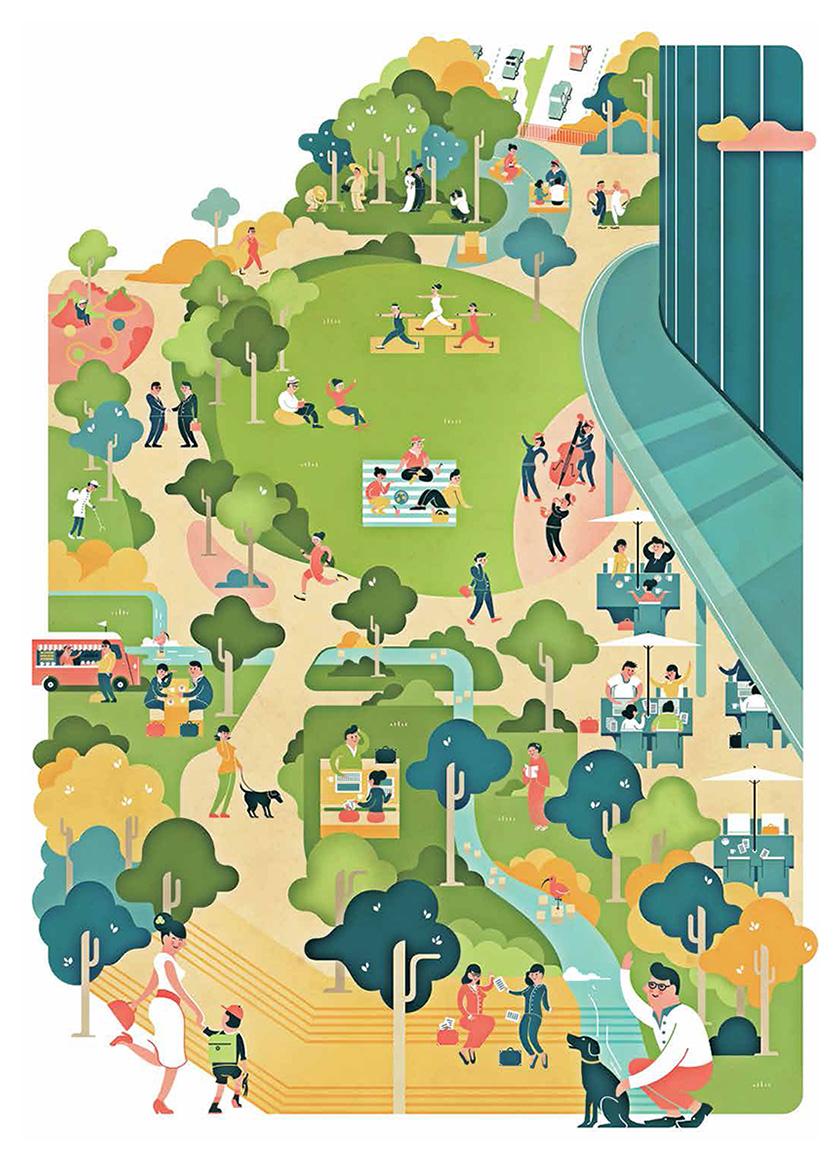 Toranomon Hills - Illustrations