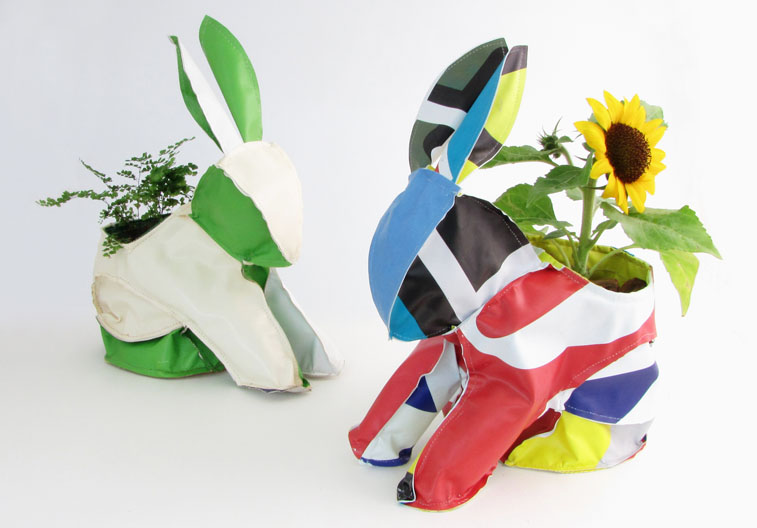 Newsed - Product Design from Recycled Junk - Bunny Fabric Vase Cover