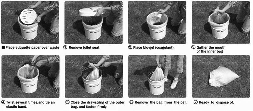 pail toilet kit