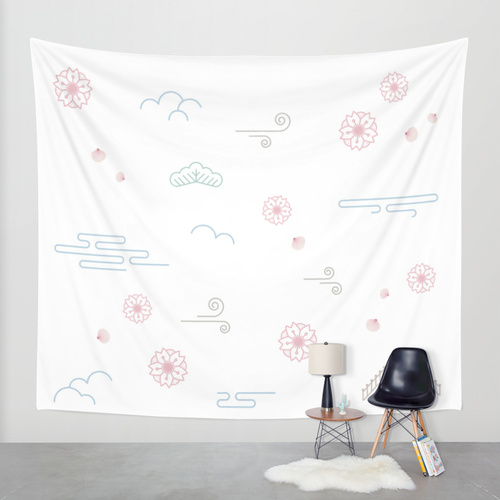 WALL TAPESTRY sakura society6