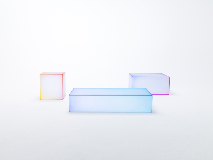nendo soft glass tables glas italia milano design week 2015