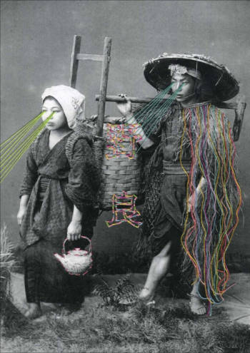 mana morimoto artist embroidery  fiber japanese mix medium hipster sapporo portland tokyo