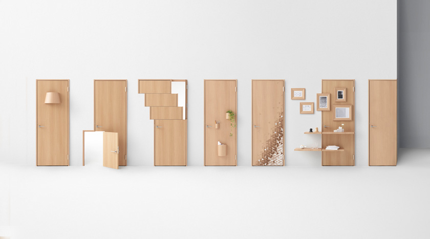 nendo seven doors abe kogyo product design japan japanese design interior wood natural