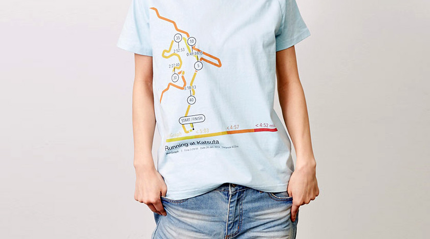 RunGraph app, iOS, Running, Excersice, Design, Graphic Tee, Shirts, Wow Inc, Frontage Inc