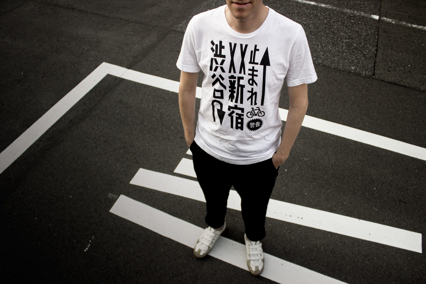 Tokyo Signs - Products inspired by the streets of Tokyo - Tokyo Roadmark Tshirt